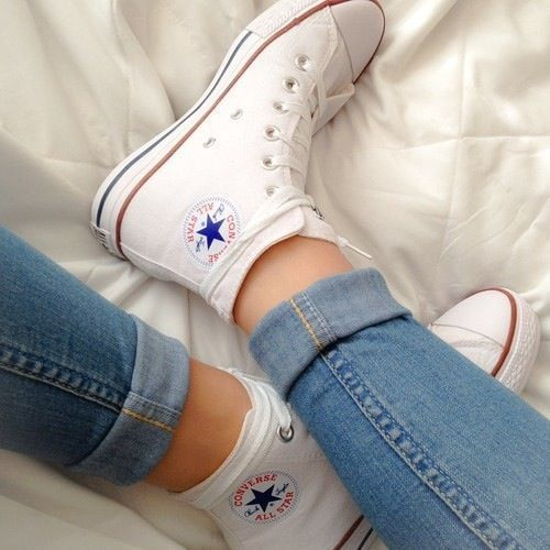 chaussure style converse femme blanche
