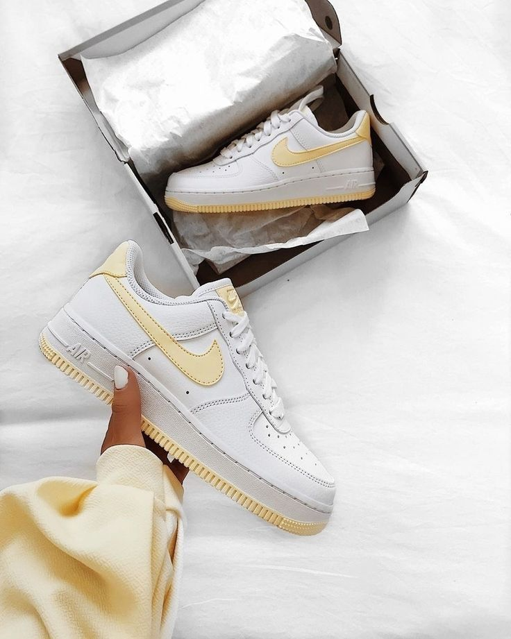 Adidas Outfits Nike Air Force 1 Shoes White Yellow 2019