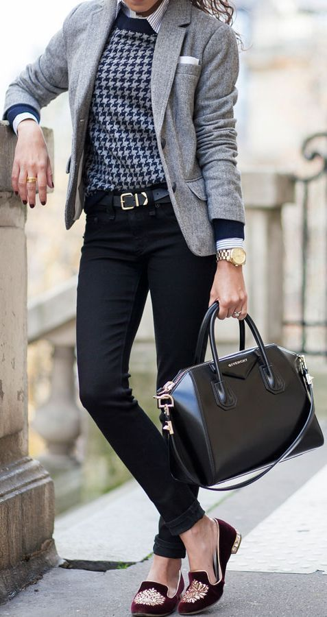 jeans and blazer mature women