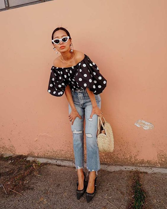 polka dot outfits - learn how to put them together for this season