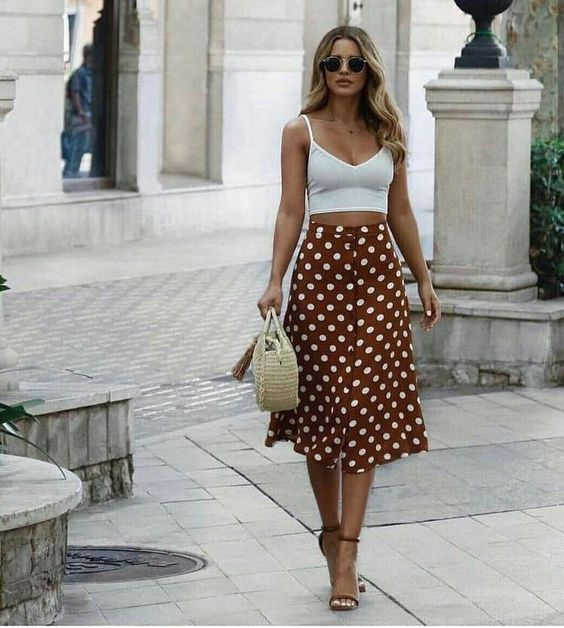 fashion polka dot skirts