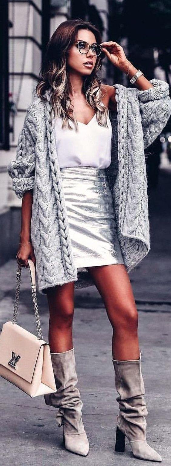 outfit long woven vest