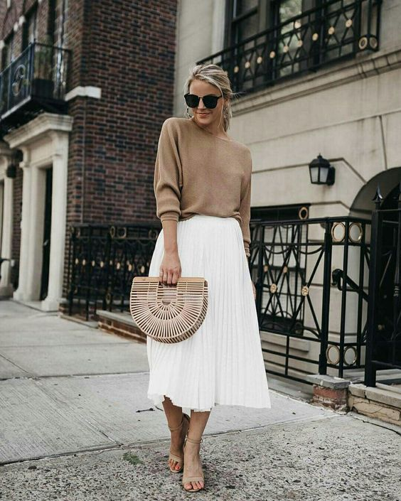 maxi or oversized nude blouses