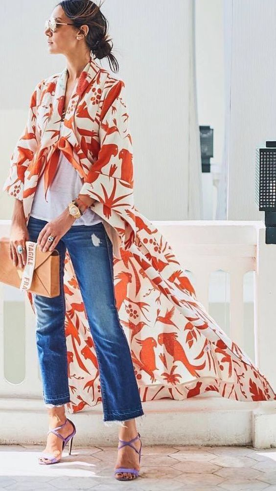 oversized and elegant printed blouses