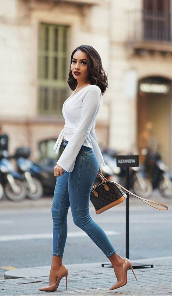 fashion with office jeans