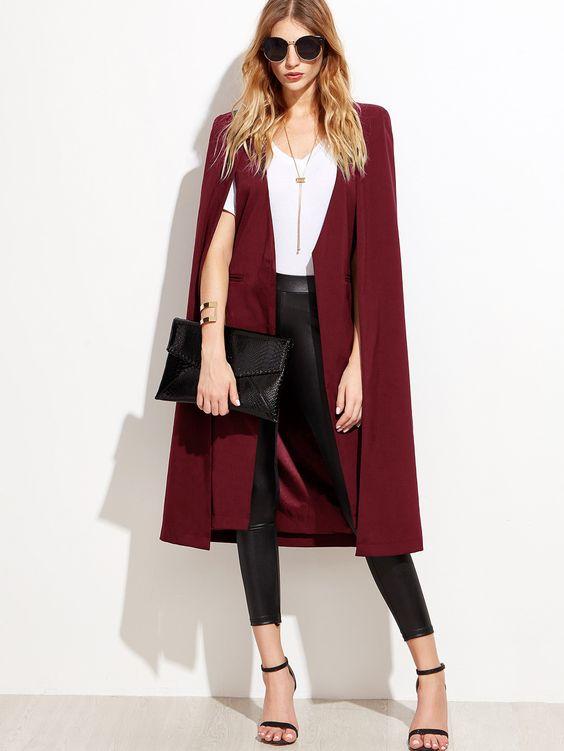 long fashion open blazer or jacket