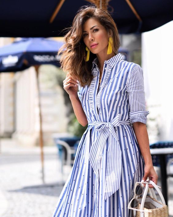 striped dresses for women 40 or older