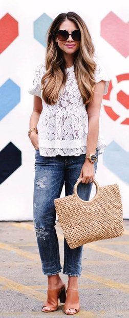 Elegant white blouses for ladies