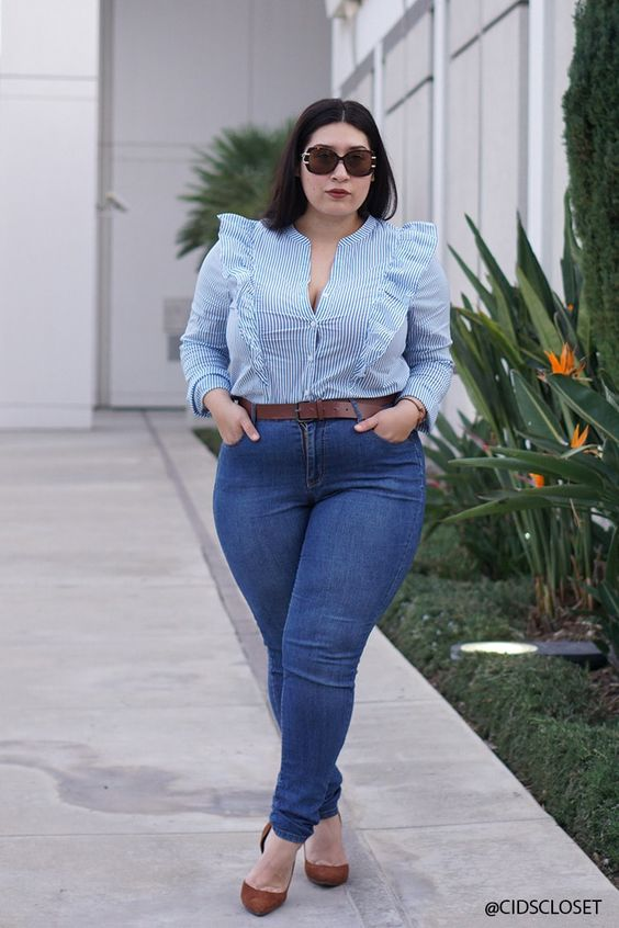 Fashion blouses for chubby