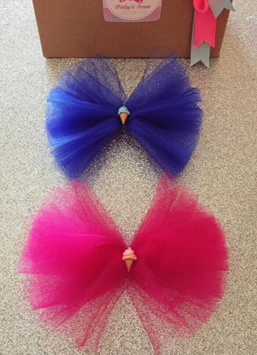 Bows for girl with tulle
