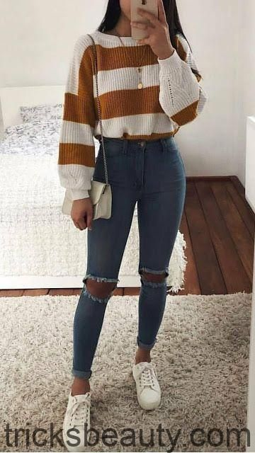 Casual winter look for women