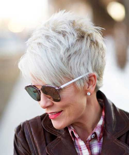 short haircut or short pixie mature women