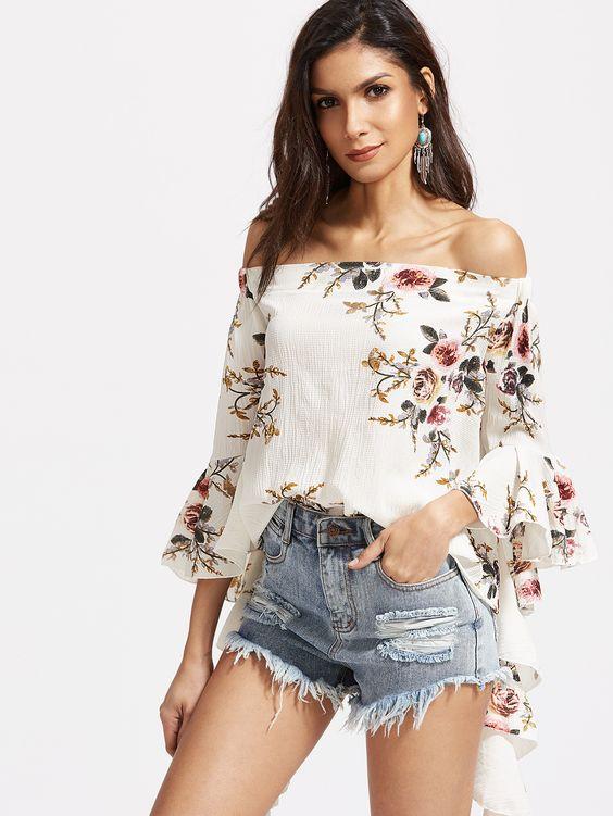 Elegant printed blouses