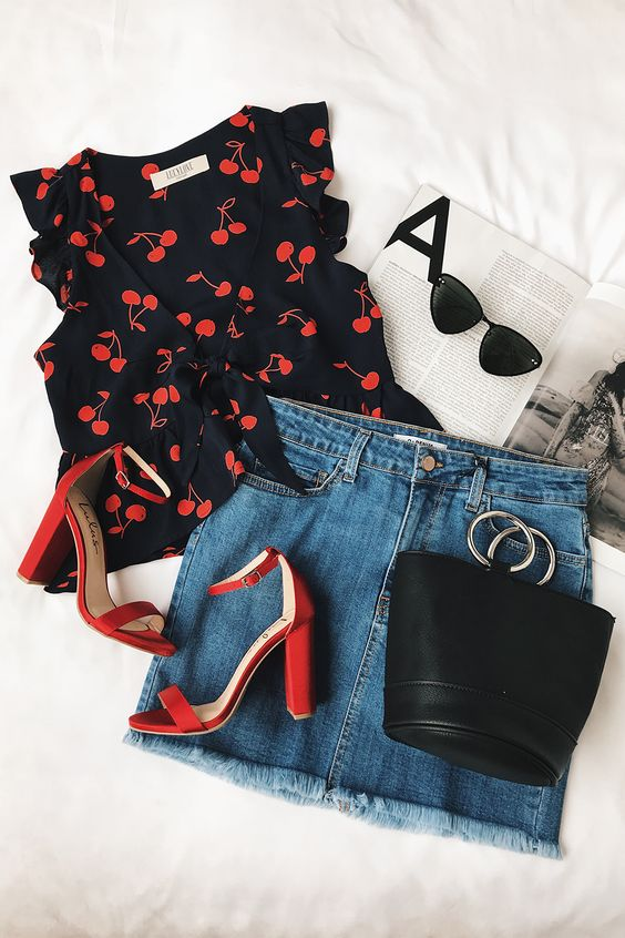 Fashion printed blouses