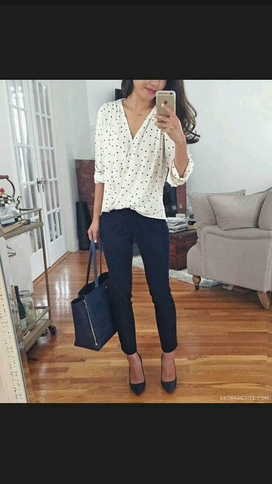Trend in blouses with polka dots