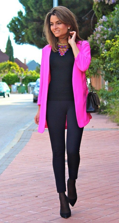 Outfits for women 40 in pink fuscia