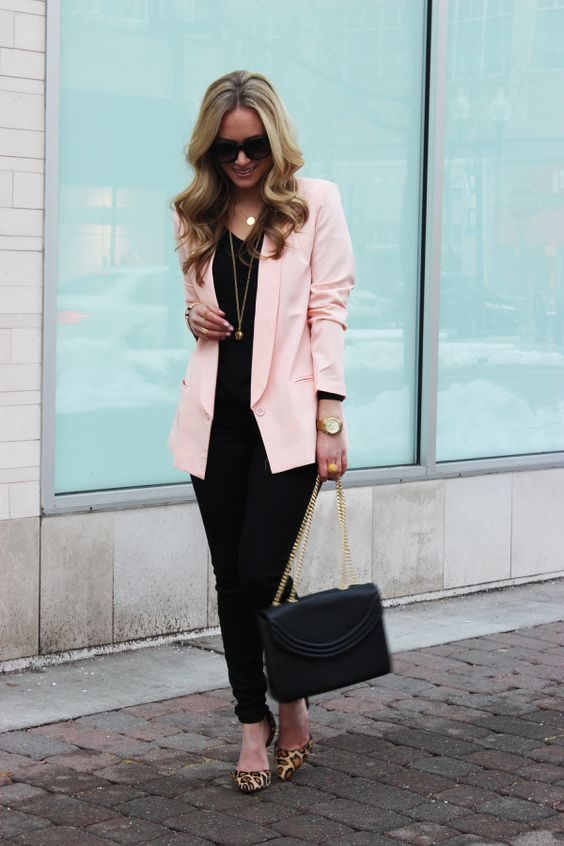 Outfits for women 40 in pastel pink with style