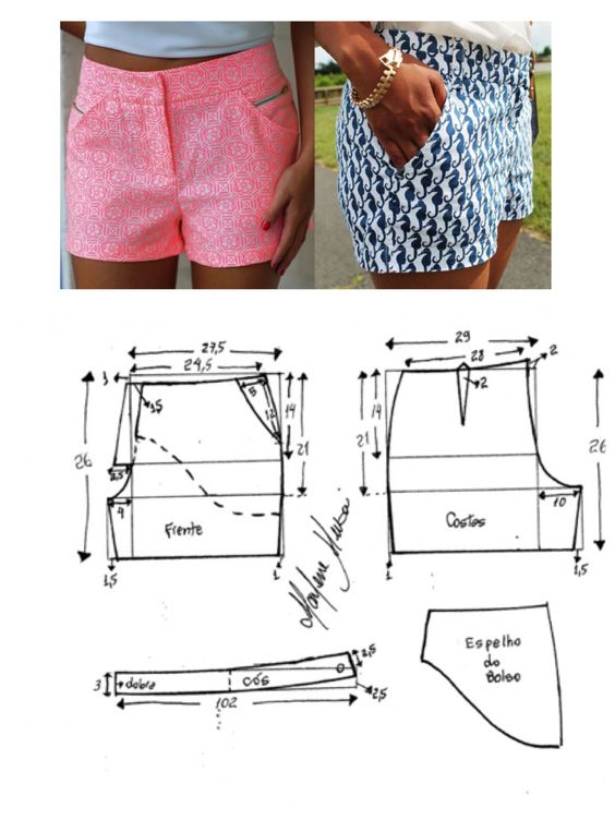 Short for ladies ideas with molds and fashion patterns