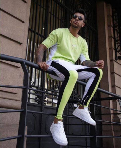 neon male fashion