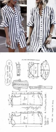fashion shirt dresses patterns and molds