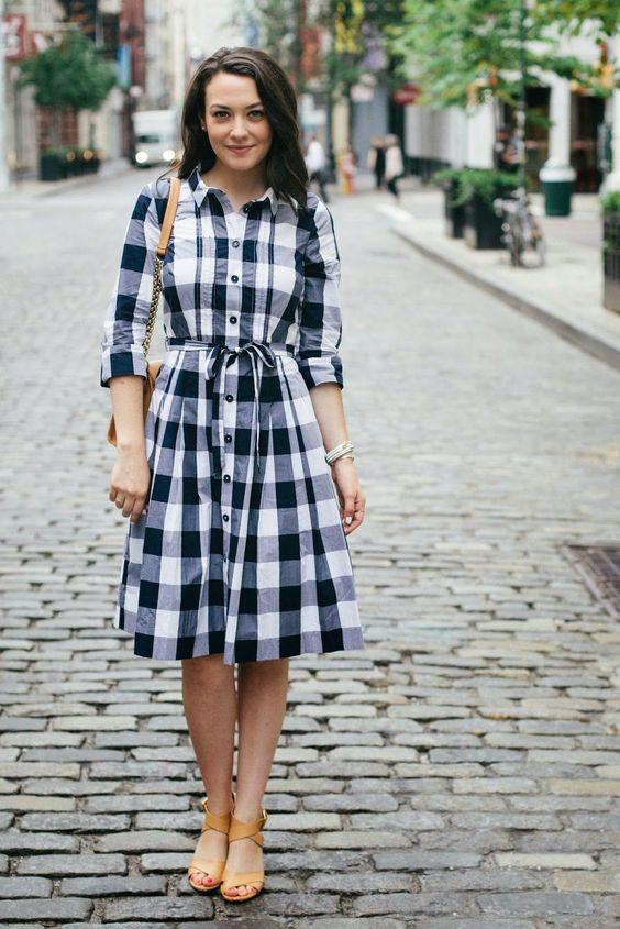 plaid shirt dresses