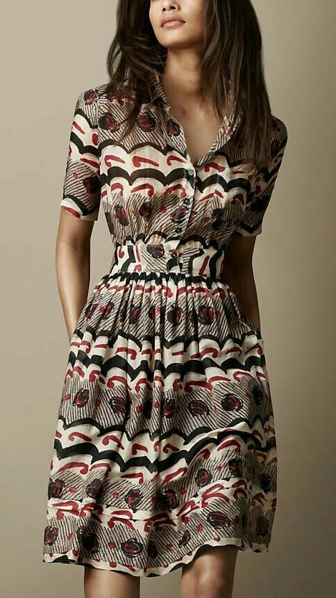 printed shirt dresses
