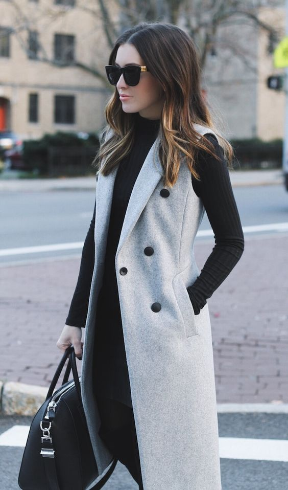 Outfits with winter coats 2017-2018