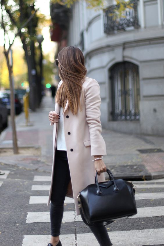 Fashionable winter coats and coats