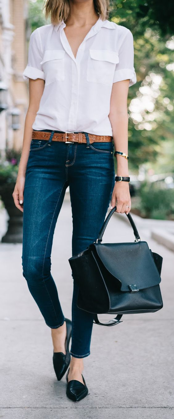 Outfits with flats and jeans
