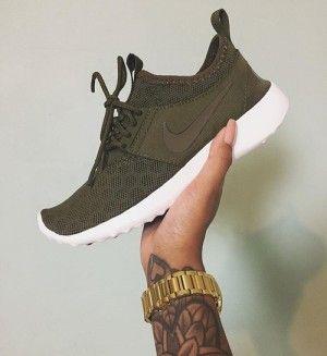 military green nike sneakers