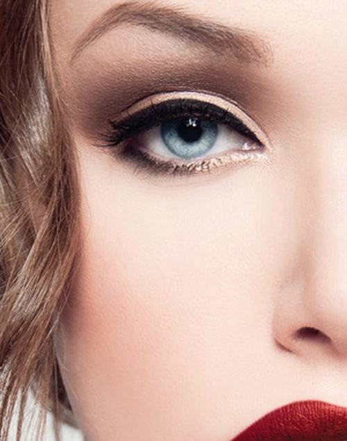 Different styles of eyeliner