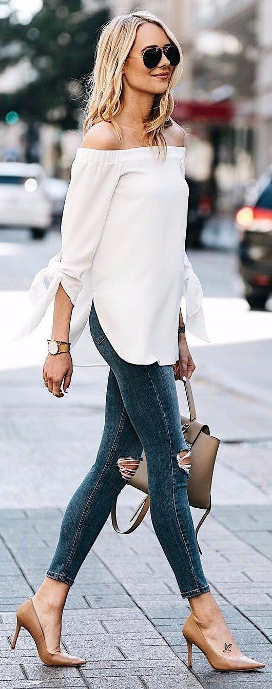 Outfits with white blouses