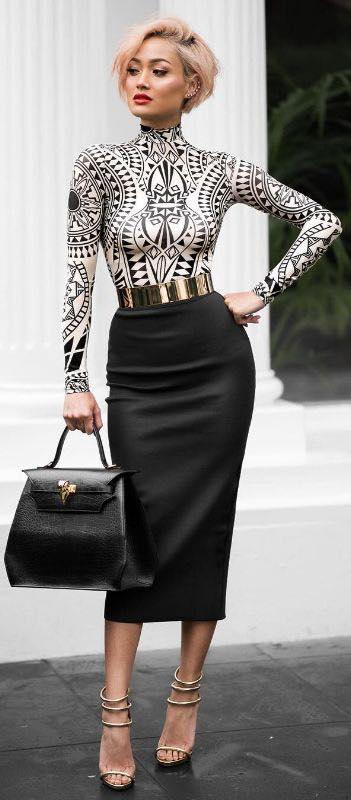 Fashion for 40 modern women 2019 with skirts