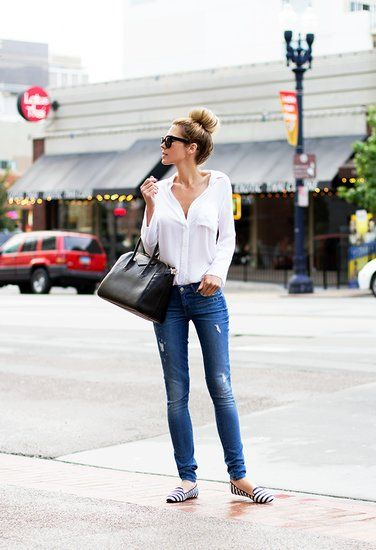 ideas for casual look with flat shoe and heel shoe