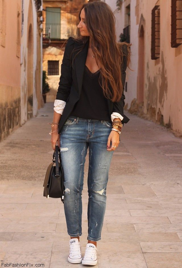ideas for casual look with flat shoe