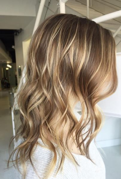 Balayage highlights in blondes