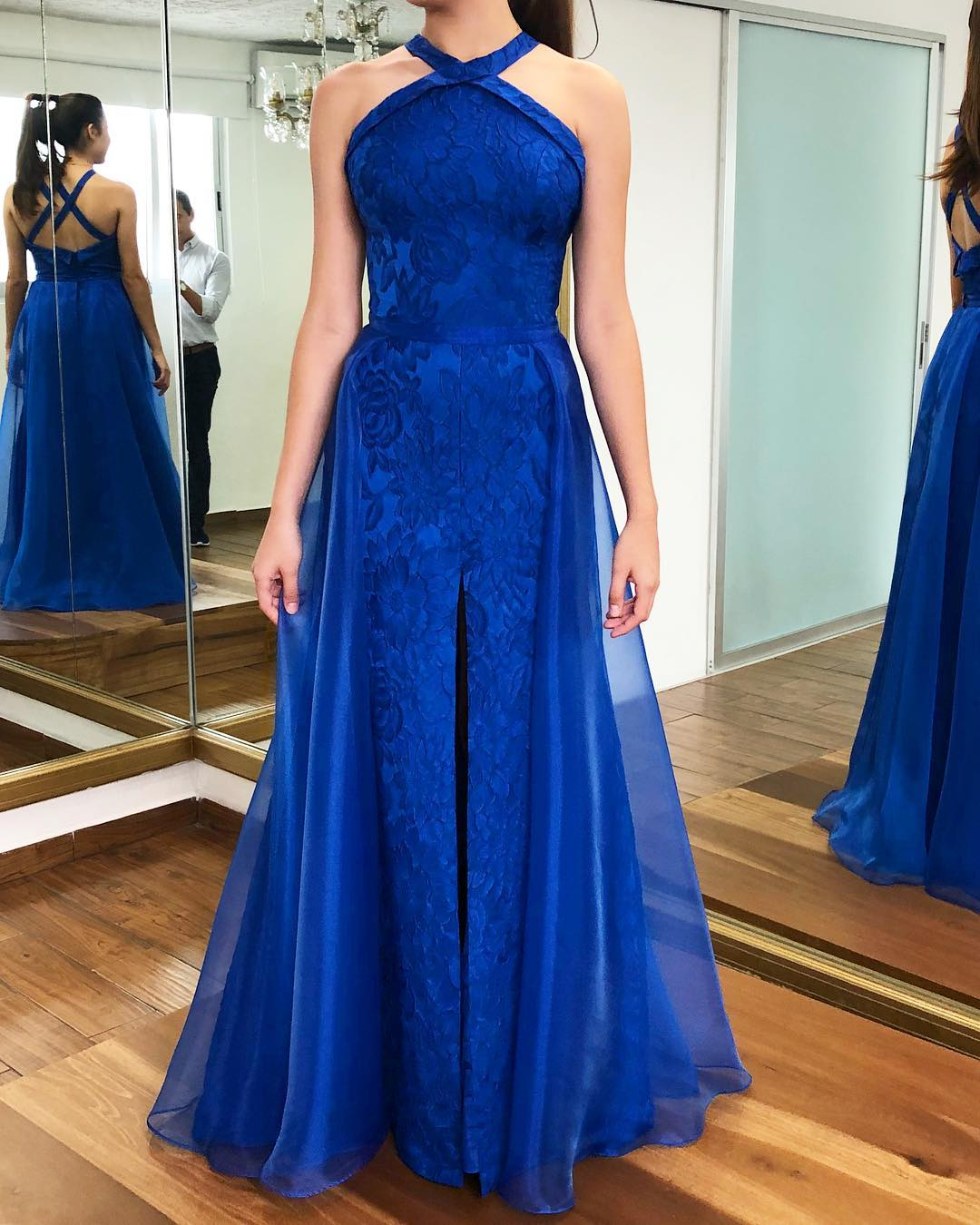 long and elegant dresses for the quinceanera mom