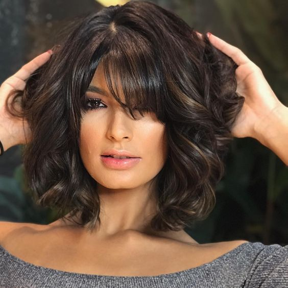 bob cut for mature women wavy hair