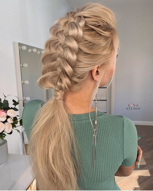 Braid hairstyle with tail