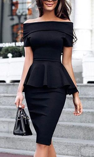 use peplum dresses to conceal the belly