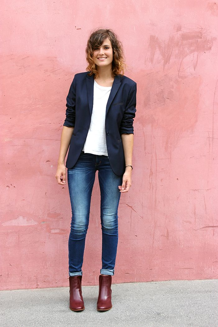 Outfits for 30-year-old women with heeled ankle boots