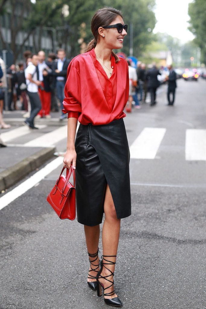 Outfits for 30-year-old women in a silk blouse