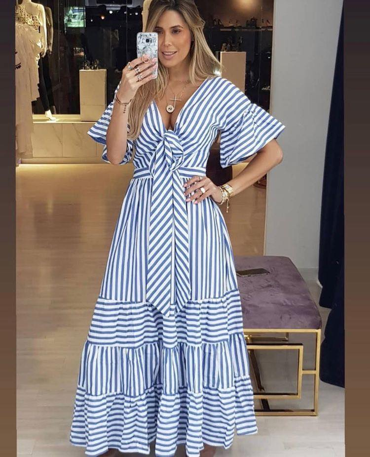Striped dresses for women 40 and over