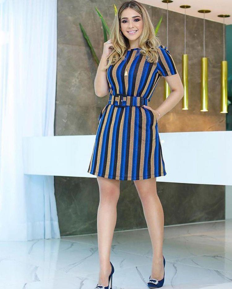 Striped dresses for women 35 and over