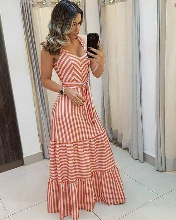 Striped dresses to show off your waist