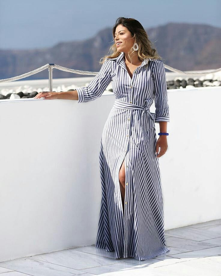 Dresses with stripes and bows to wear in spring