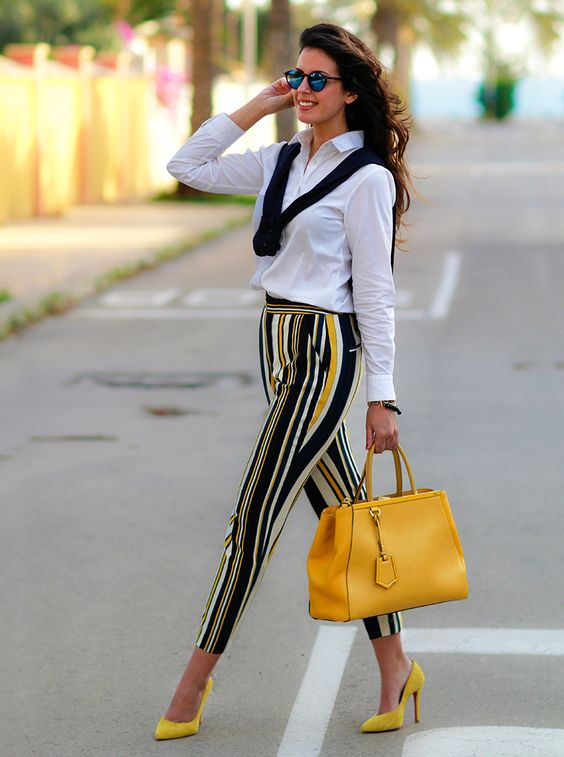 Outfits with patterned pants