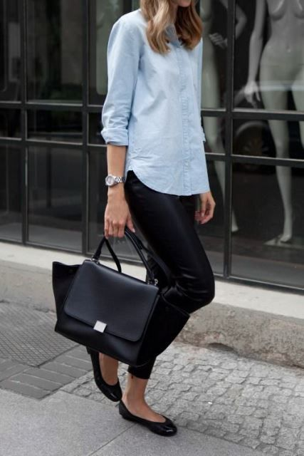 Denim shirt look for women 40 years and older