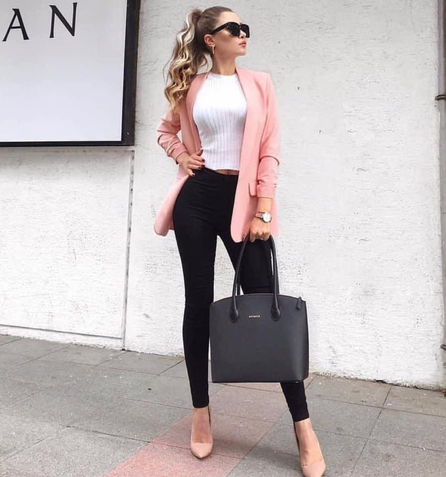 How to wear a pink blazer for the office