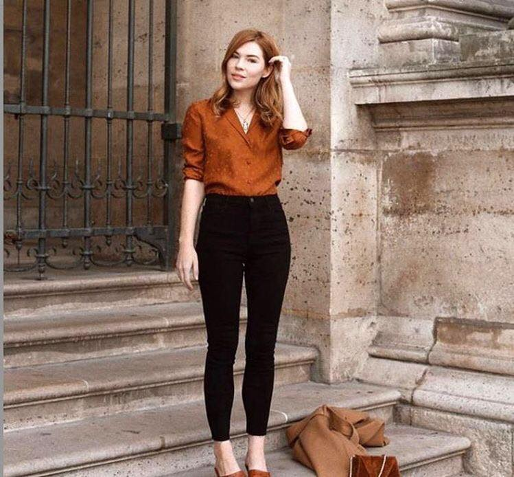 Formal office outfits in earthy tones